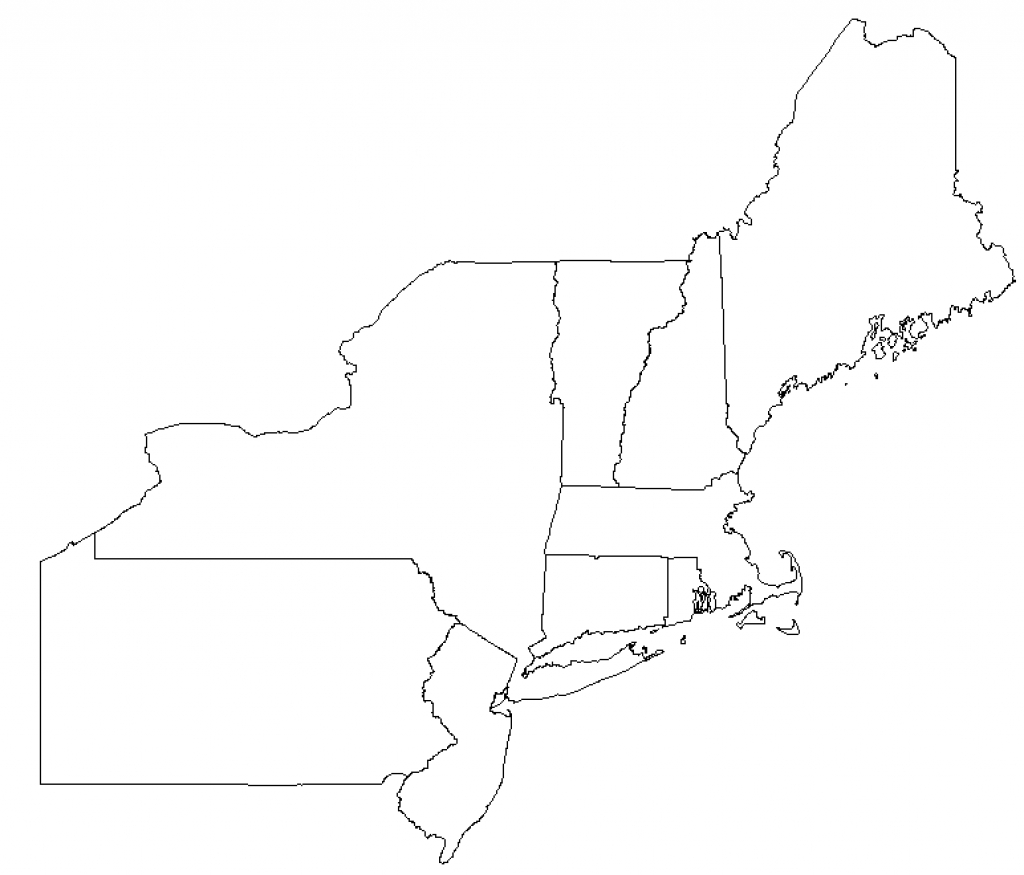 Blank Map Of Northeast Us And Travel Information | Download Free within Outline Map Northeast States