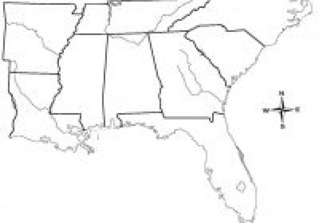 Blank Map Of Southeast United States Us Southe Us Road Southeastern in Blank Map Of Southeast United States