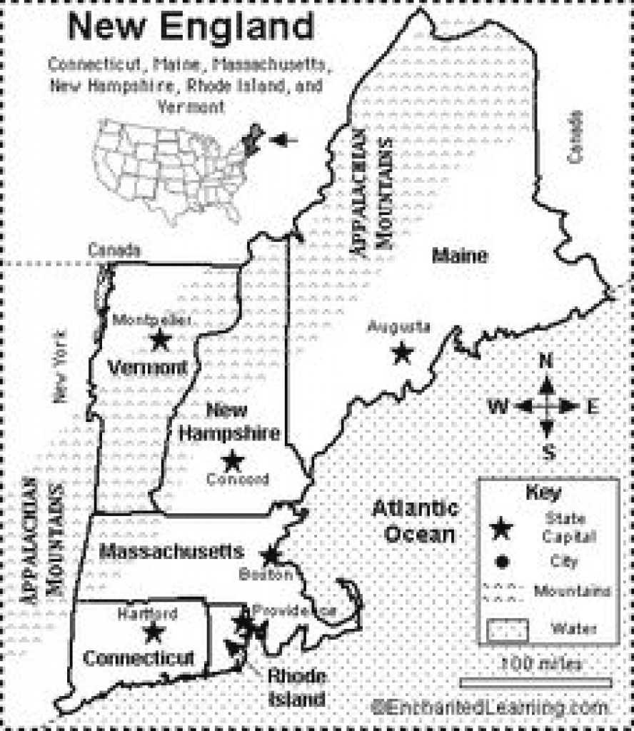 Blank Map Of The New England States - Google Search | Us States Cc in Map Of New England States And Their Capitals