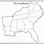 Blank Map Of The Southeast States Valid United States Map Printable For Southeast Map With Capitals And States