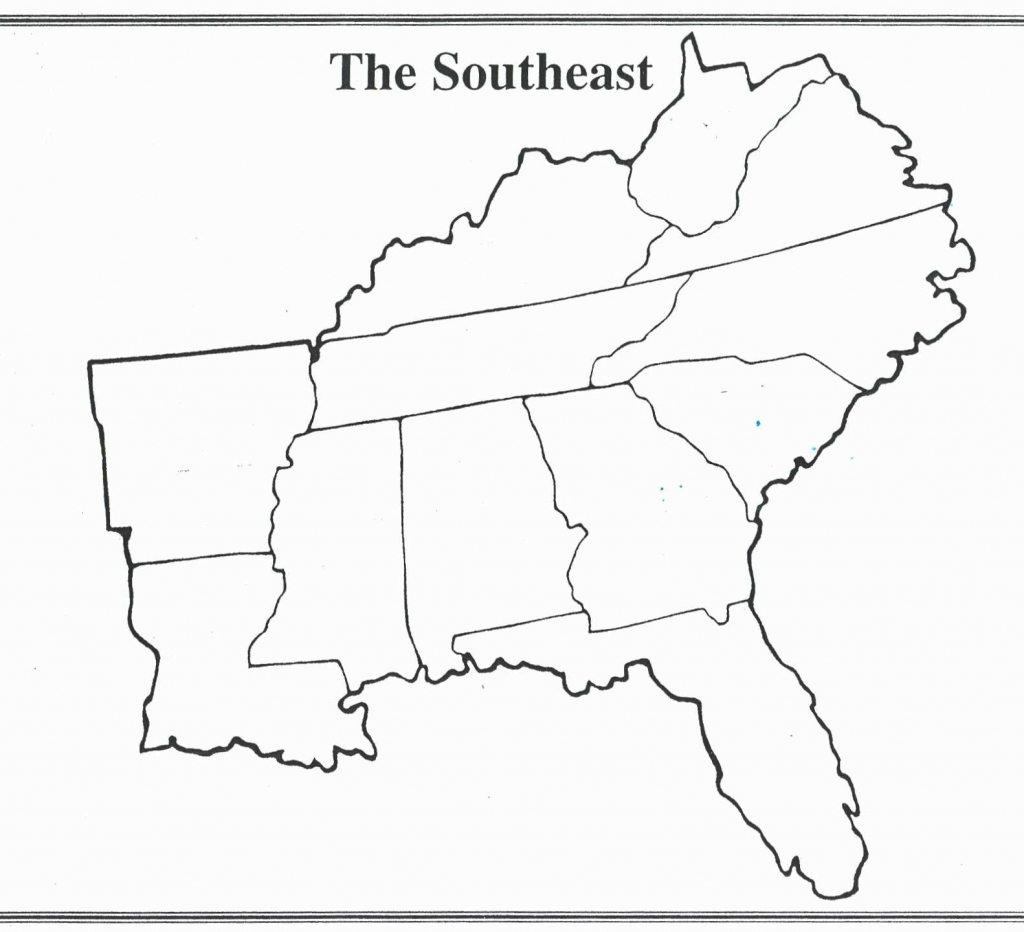 Blank Map Of The Southeast States Valid United States Map Printable regarding Blank Map Of Southeast United States