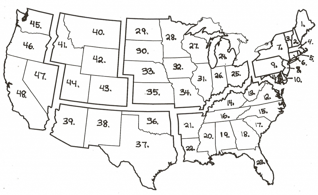Blank Map Of Us States Quiz Valid United States Map Quiz Capitals pertaining to Blank Us State Map Quiz