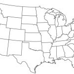 Blank Map Of Usa With State Lines   Marinatower Within Us Map With State Lines