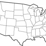 Blank Maps Of Usa | Free Printable Maps: Blank Map Of The United Intended For A Blank Map Of The United States