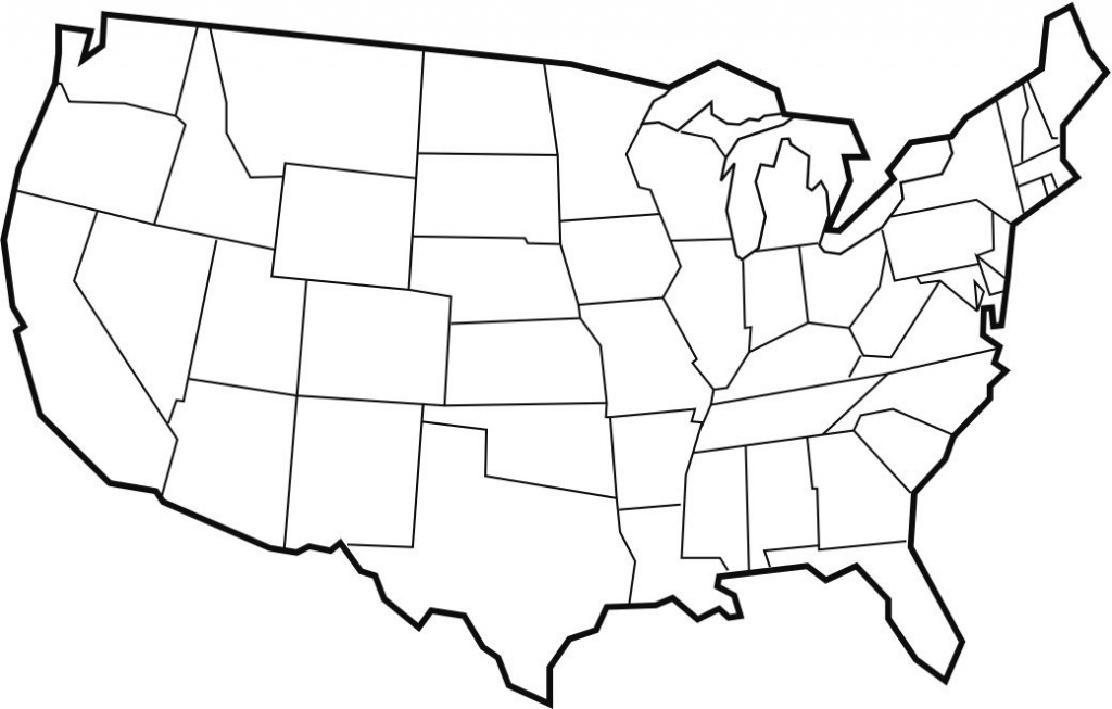 Blank Maps Of Usa | Free Printable Maps: Blank Map Of The United with Blank Us State Map