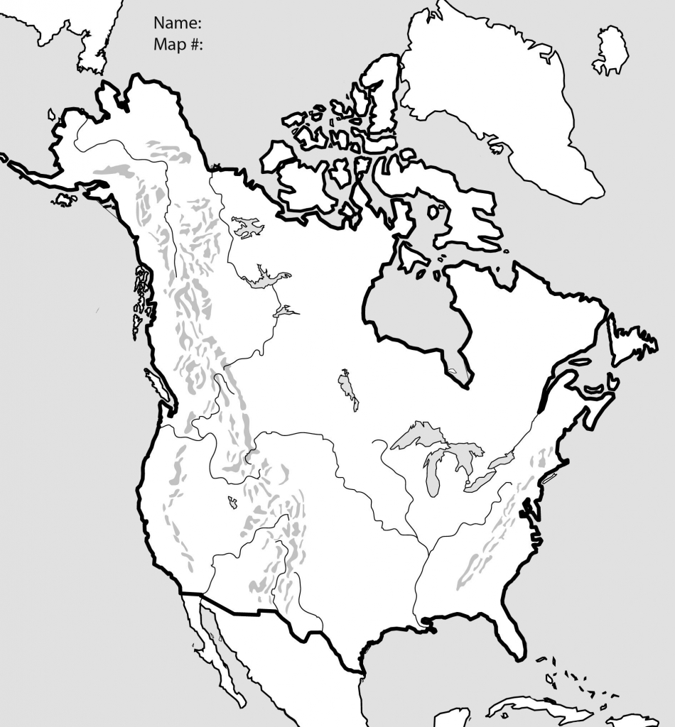 Blank Physical Map Of Mexico Fresh The United States And Canada for United States Physical Map Worksheet