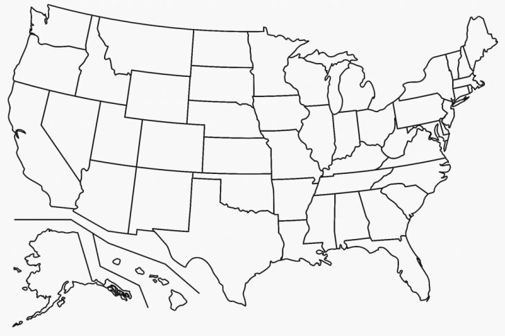 Free Printable Map Of The United States