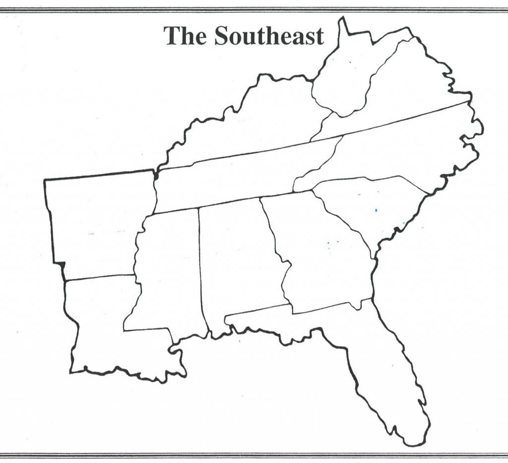 Blank Southeast Region Map Best Of Blank Map Southeastern United for Map Of The Southeast Region Of The United States