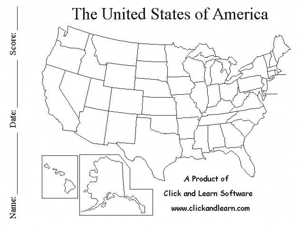 Blank United States Map Quiz Pdf - Name All The 50 States Quiz with 50 States Map Pdf