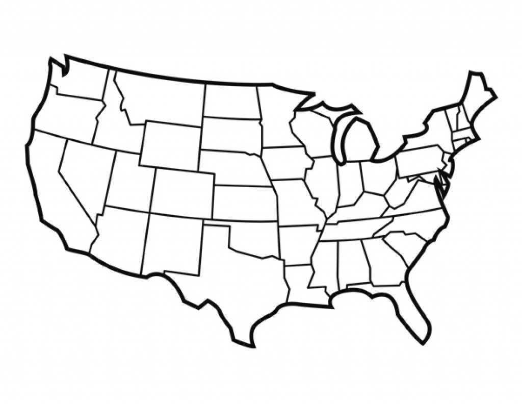 Blank United States Map With States For Students And Teachers | Pdf in Blank State Map Pdf