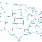 Blank Us Map With States Names Usa Map Of States Blank Save Map Us Pertaining To Us Map Without State Names