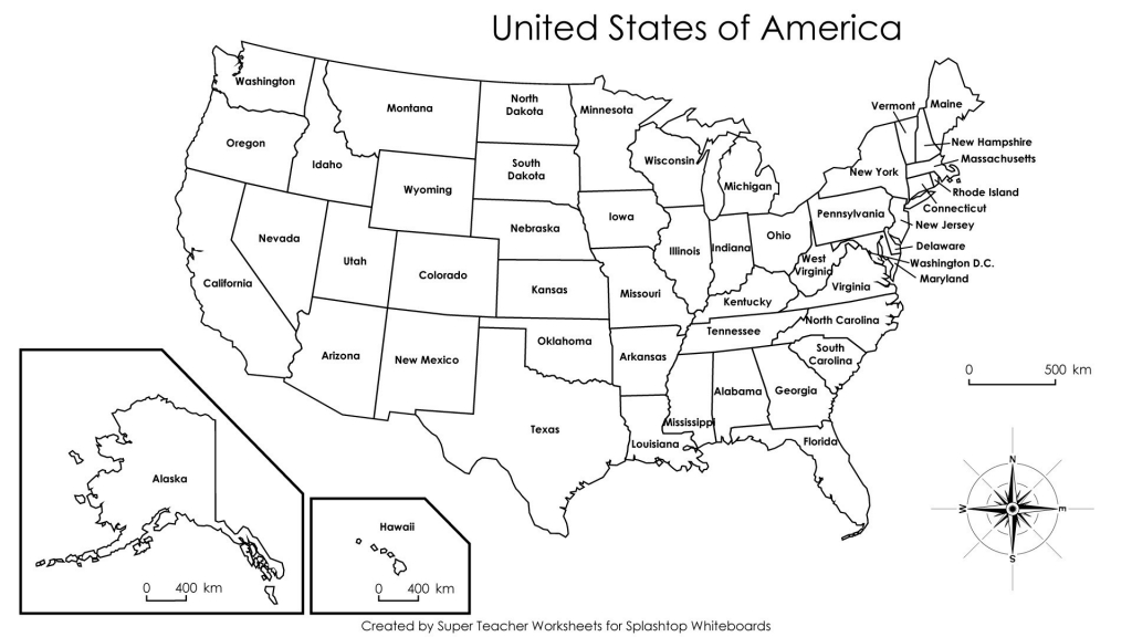 Blank Us State Map Printable Blank Us Map United States Maps within Blank Us State Map