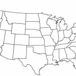 Blank Us State Map Printable United States Maps Outline And Capitals Pertaining To Blank Us State Map