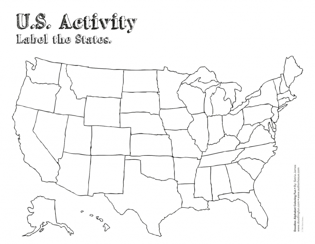 Blank Us States Map Quiz Printable New United States Map Label intended for Blank State Map Quiz