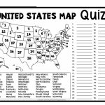 Blank Us States Map Quiz Printable New United States Map Puzzle Pertaining To Blank Us State Map