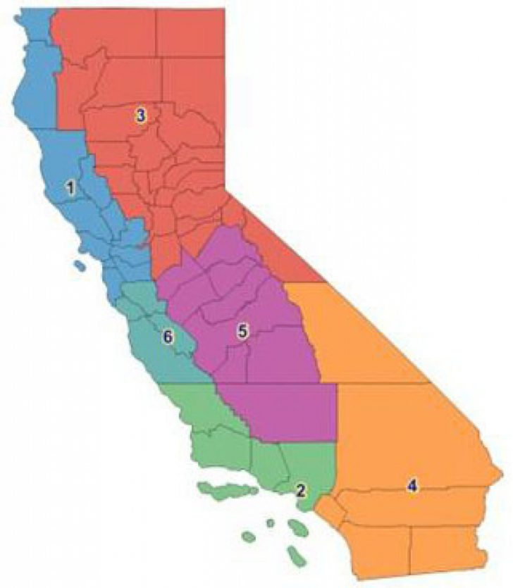 California State Assembly District Map
