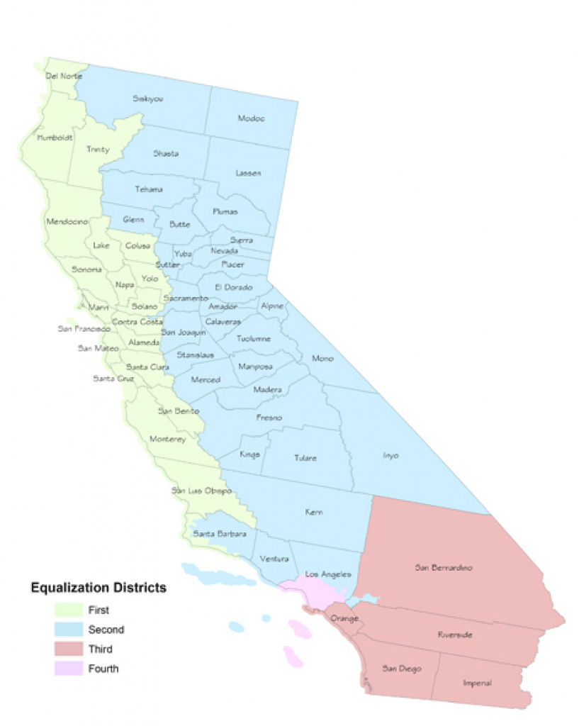 Boe District Boundaries Effective January 5, 2015 - California State with regard to California State Assembly Map