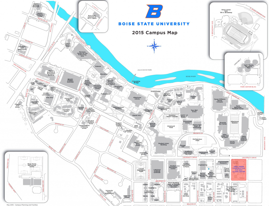 Boise State University Campus Map in Idaho State University Campus Map