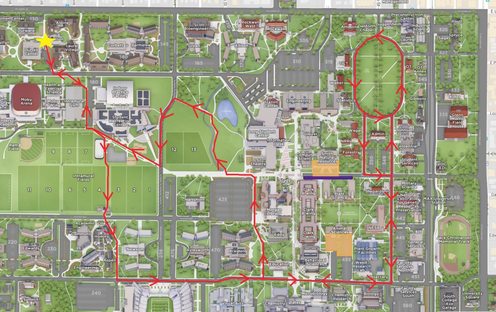 Boo On A Bike: Inaugural Bike Parade Rings In Halloween | Source regarding Colorado State University Campus Map