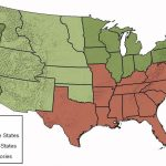 Border State Civil War Secession Border States Slavery Map With Regard To Slave States And Free States Map