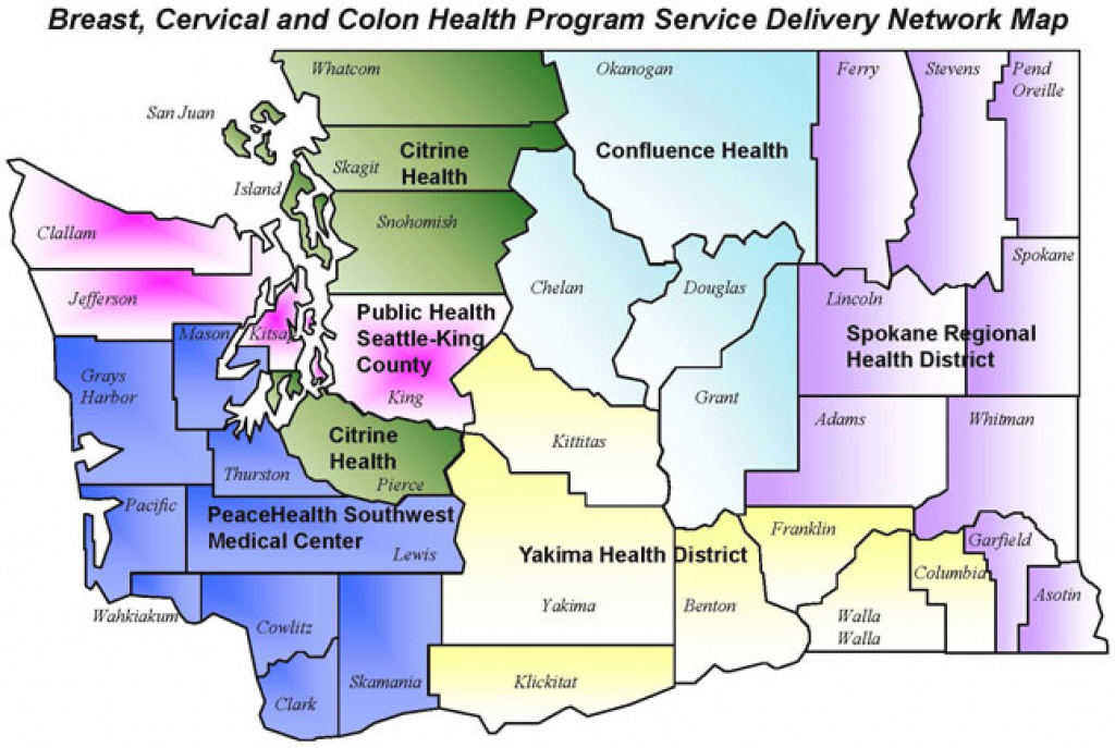 Breast, Cervical, And Colon Health Prime Contractor Contact pertaining to Washington State Flu Map