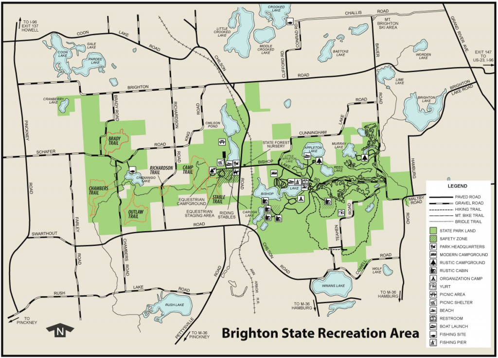 Brighton State Recreation Areamaps & Area Guide - Shoreline Visitors for Oak Mountain State Park Campground Map