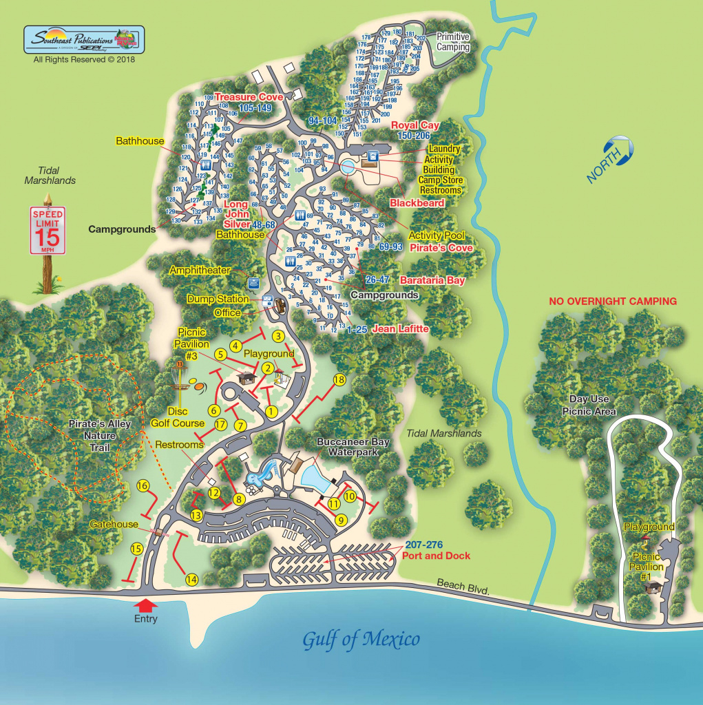 Buccaneer State Park In Waveland, Mississippi | Amenities | Mobilerving for Buccaneer State Park Campground Map