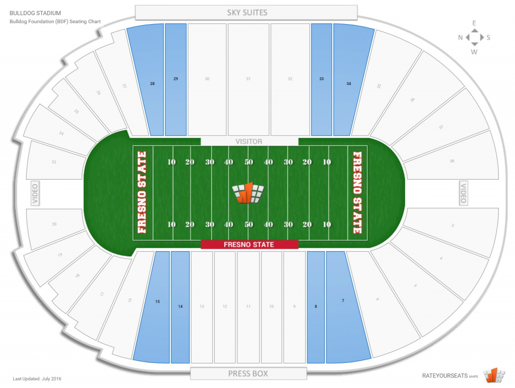 Bulldog Stadium (Fresno State) Seating Guide - Rateyourseats in Fresno State Stadium Map