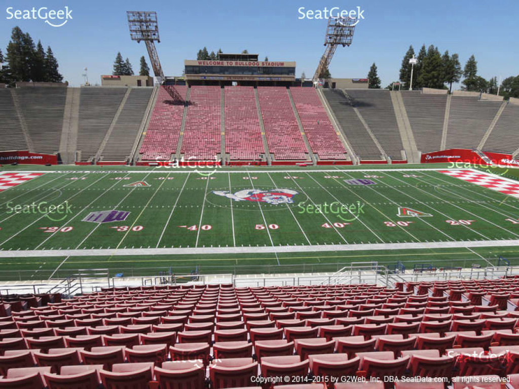 Bulldog Stadium Seat Views | Seatgeek with regard to Fresno State Stadium Map