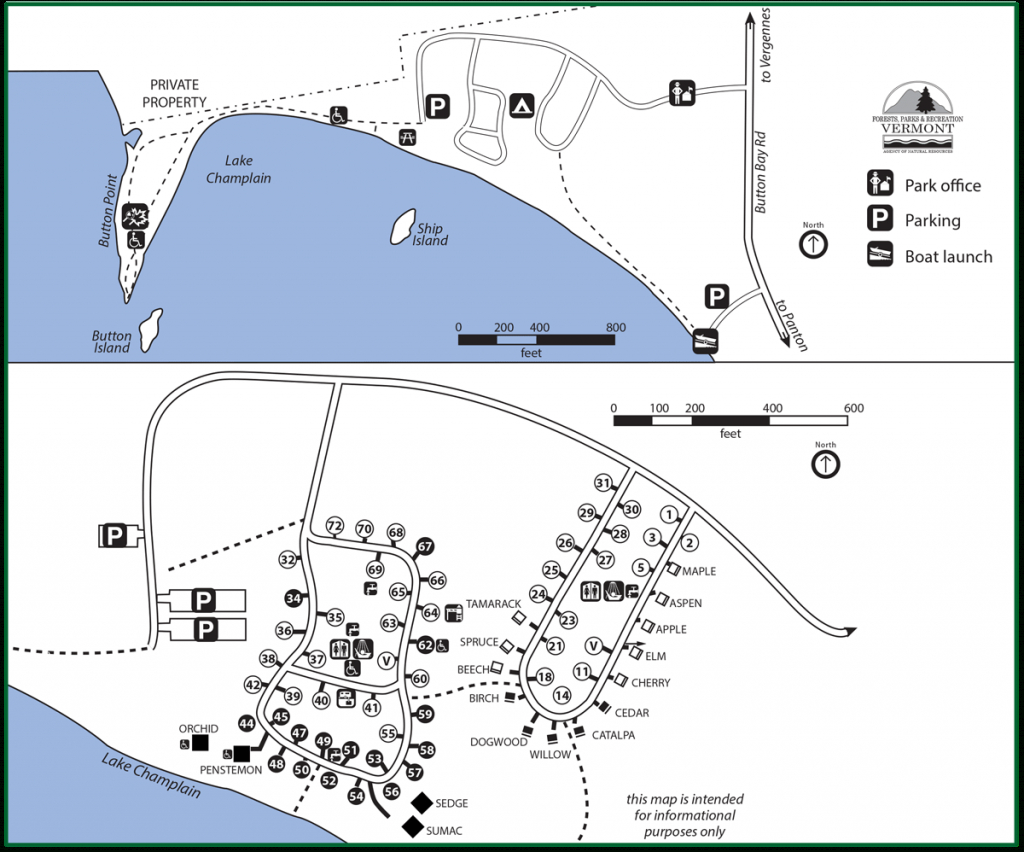 Button Bay State Park On Lake Champlain | Vermont Fish & Wildlife regarding Vt State Park Map