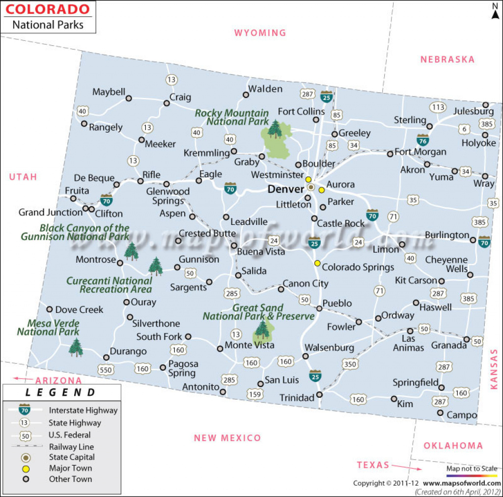 Buy Map Of Colorado National Parks regarding Colorado State Parks Map