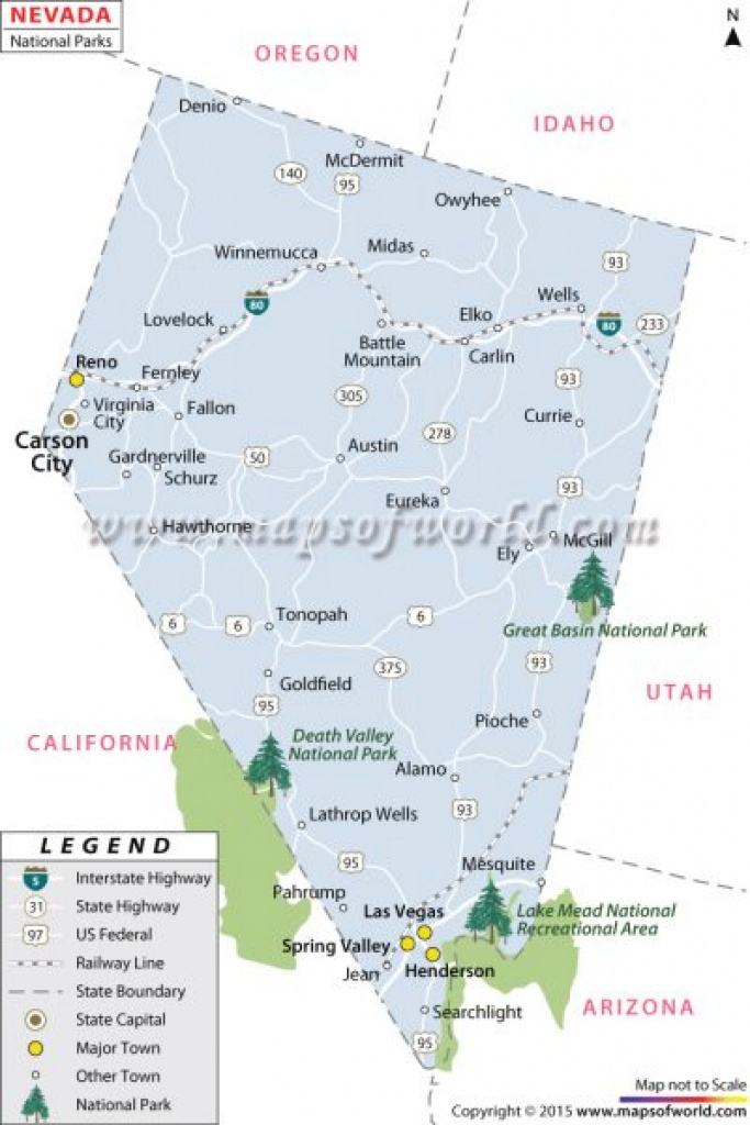 Buy Nevada National Parks Map with Nevada State Parks Map