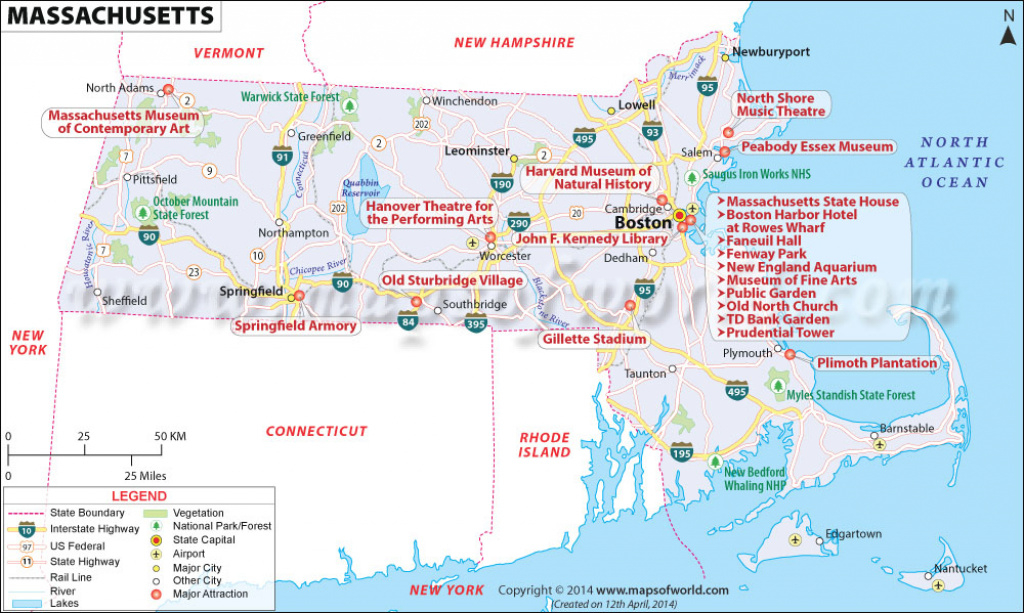 Buy Reference Map Of Massachusetts in Massachusetts State Parks Map