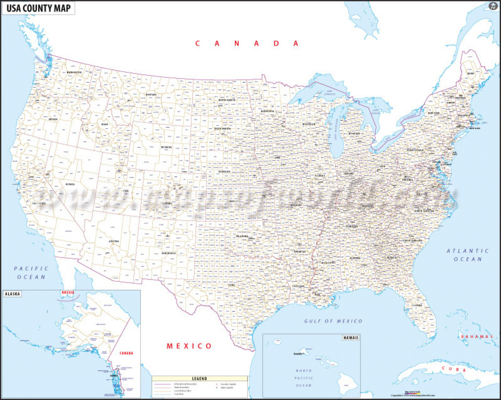 Buy Usa Map With County Names in United States Map With County Names