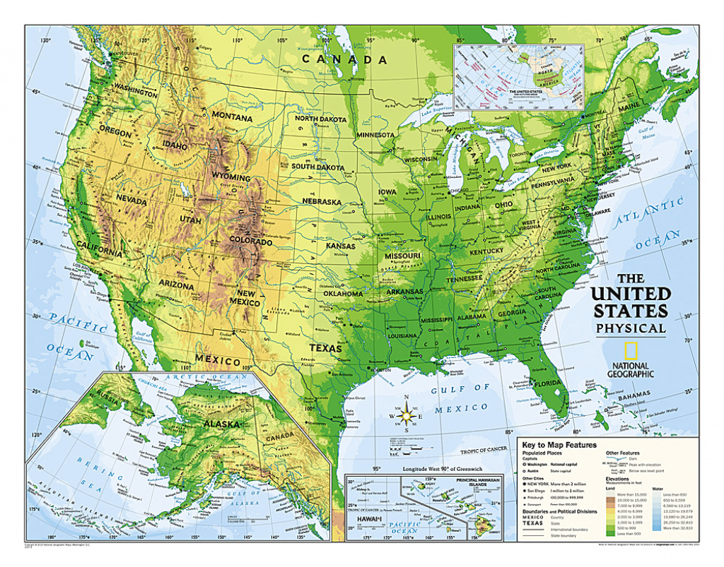 Buy Usa Physical Map For Education (Grades 4-12), Laminated in Geographic United States Map