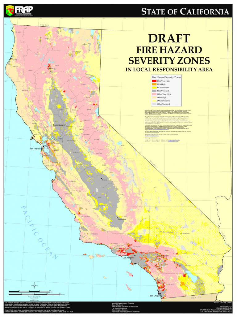 Cal Fire - California Fire Hazard Severity Zone Map Update Project throughout California State Fire Map
