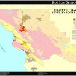 Cal Fire   San Luis Obispo County Fhsz Map Inside California State Fire Map