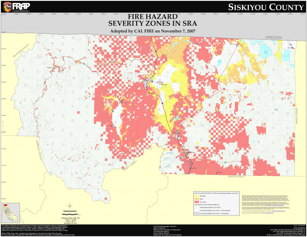 Cal Fire - Siskiyou County Fhsz Map within California State Fire Map