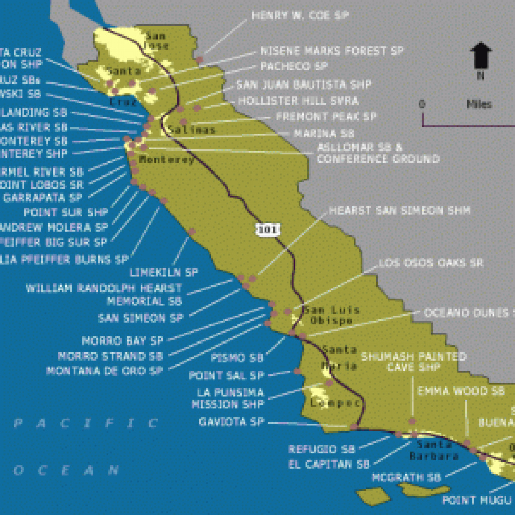 California Regions Campsites Camping California Map — Downloadable for California State Parks Camping Map
