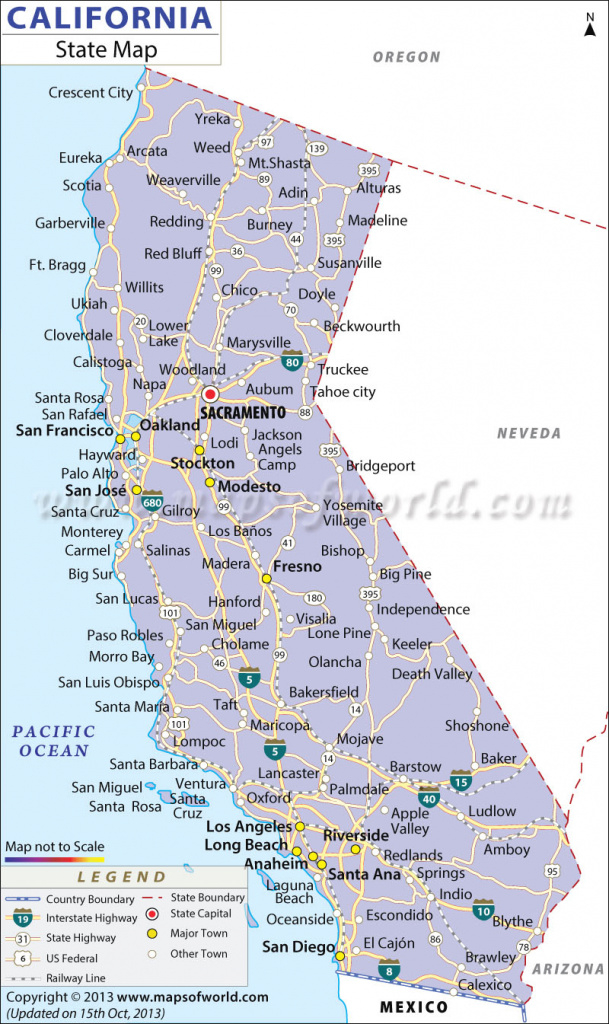 California State Map with regard to California State Map By City