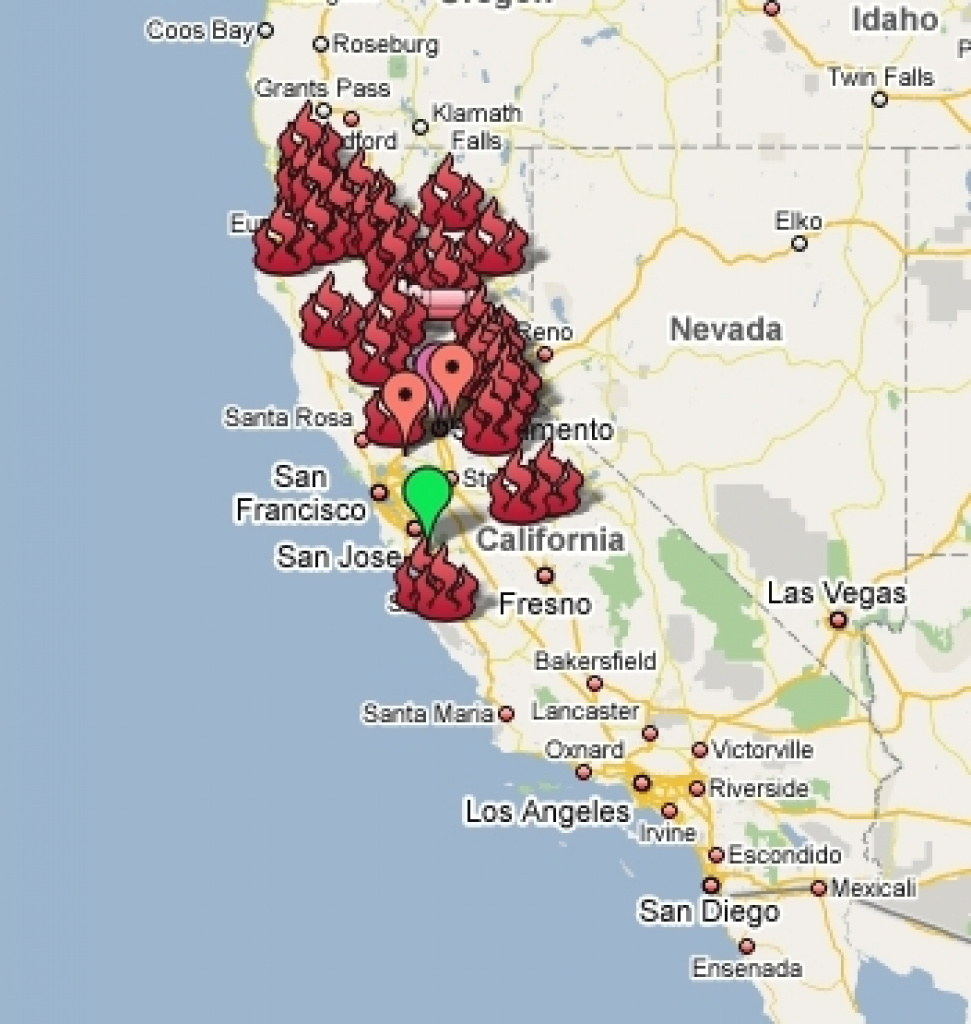 California Wildfire Threatens Yosemite California State Map Current with regard to California State Fire Map