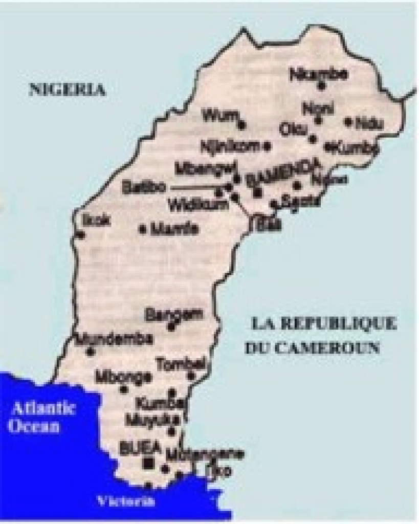 Cameroon | Ntemfacofege's Blog inside Uno State Of Cameroon Map