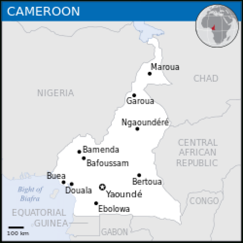 Cameroon - Wikipedia throughout Uno State Of Cameroon Map