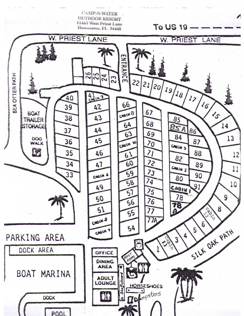 Camp 'n' Water Campground | Bookyoursite inside Rainbow Springs State Park Campground Map