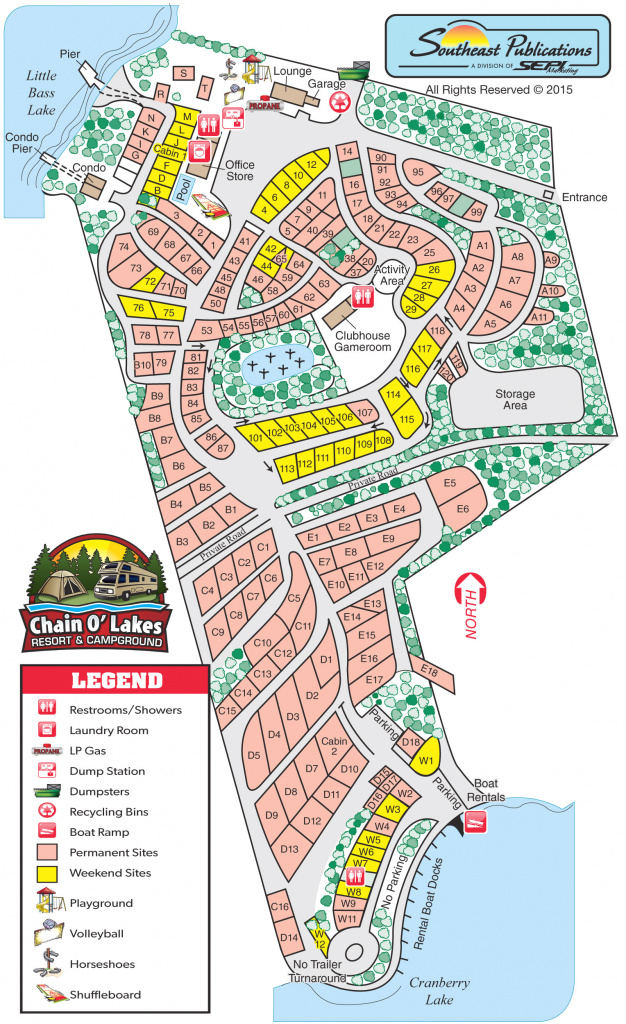 Campground Map - Chain O' Lakes Campground with regard to Illinois State Campgrounds Map