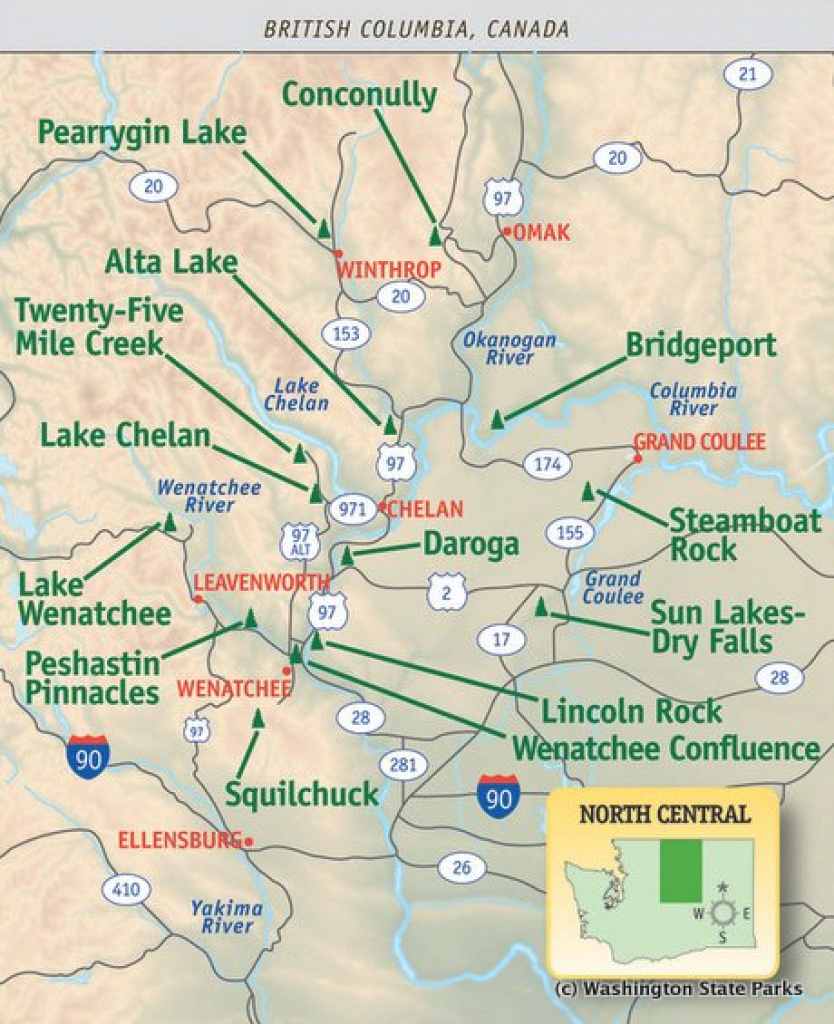 Campgrounds: State Parks And Forest Service in Washington State Campgrounds Map