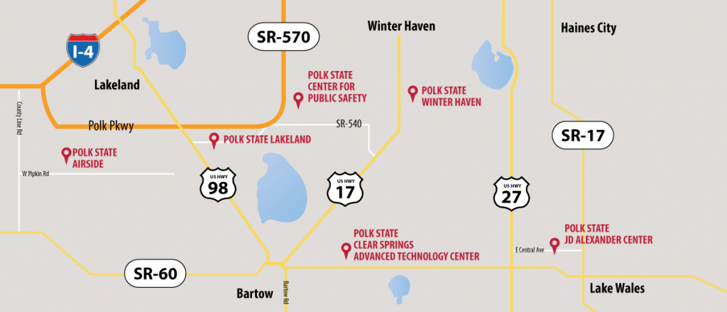 Campus Locations & Map | Polk State College with regard to Polk State College Winter Haven Campus Map