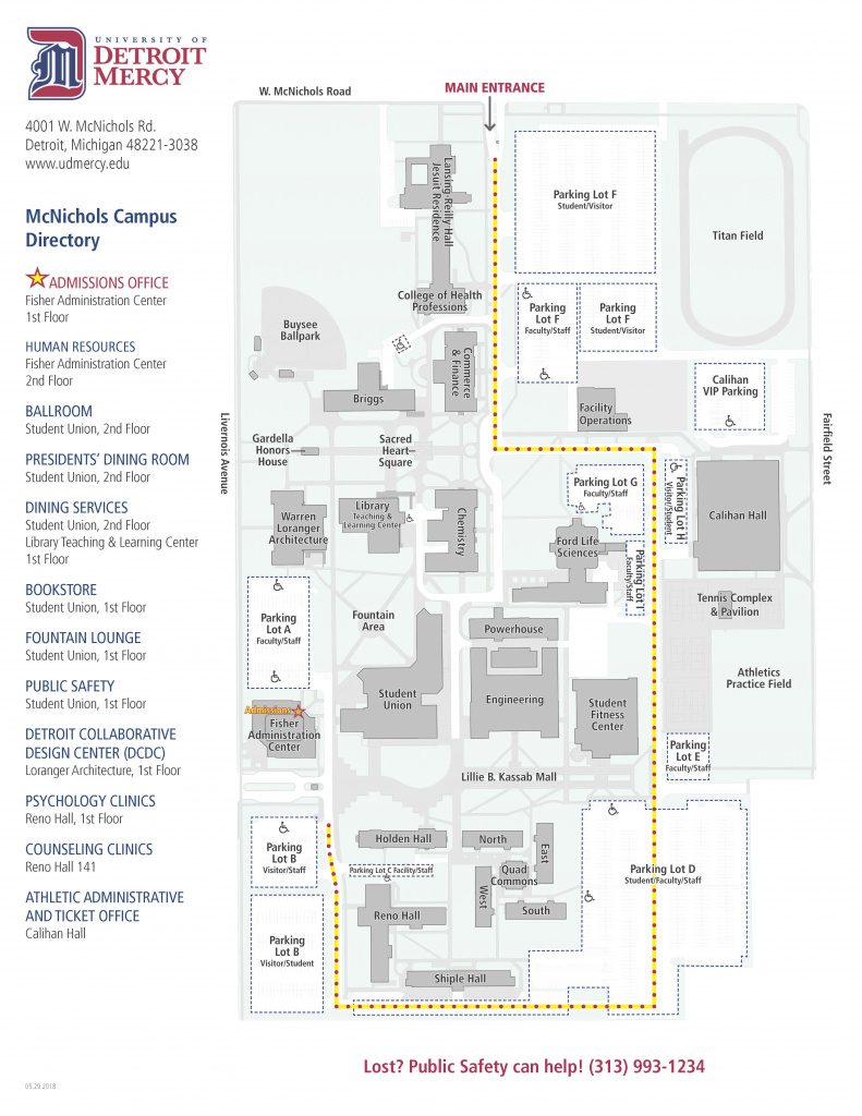 Campus Locations | University Of Detroit Mercy for Wayne State University Campus Map