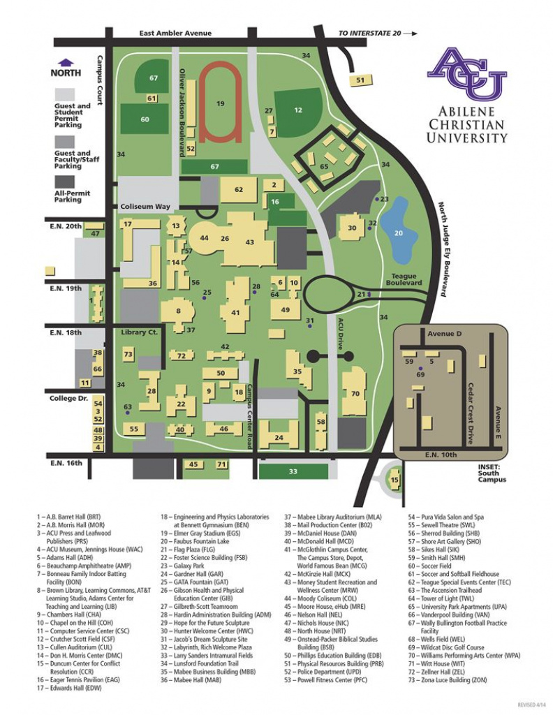 Campus Map | Abilene Christian University | Texas Our Texas In 2018 regarding Dixie State Campus Map