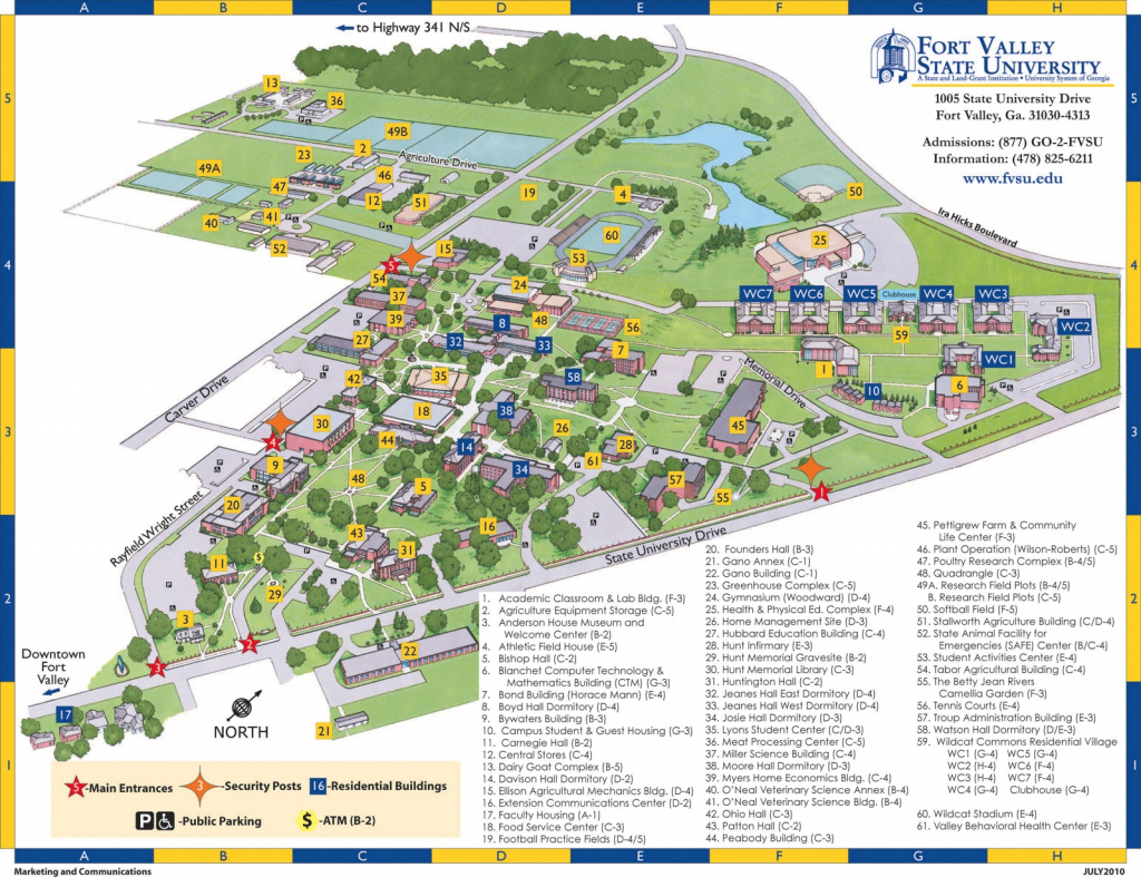 Campus Map And Building Code List inside Middle Georgia State University Campus Map